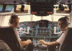 "Interflug-Piloten im Cockpit der ""IL 62"" - 1988"