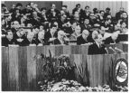 VII. Parteitag der SED 1967 in Berlin, Erich Honecker am Rednerpult - 1967